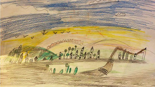 Strategie Urbansim Bucuresti Ilfov in viziunea administratiei poza desen realizata de un copil de sapte ani